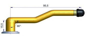 Вентиль  с двойным изгибом 1.R-1007-2